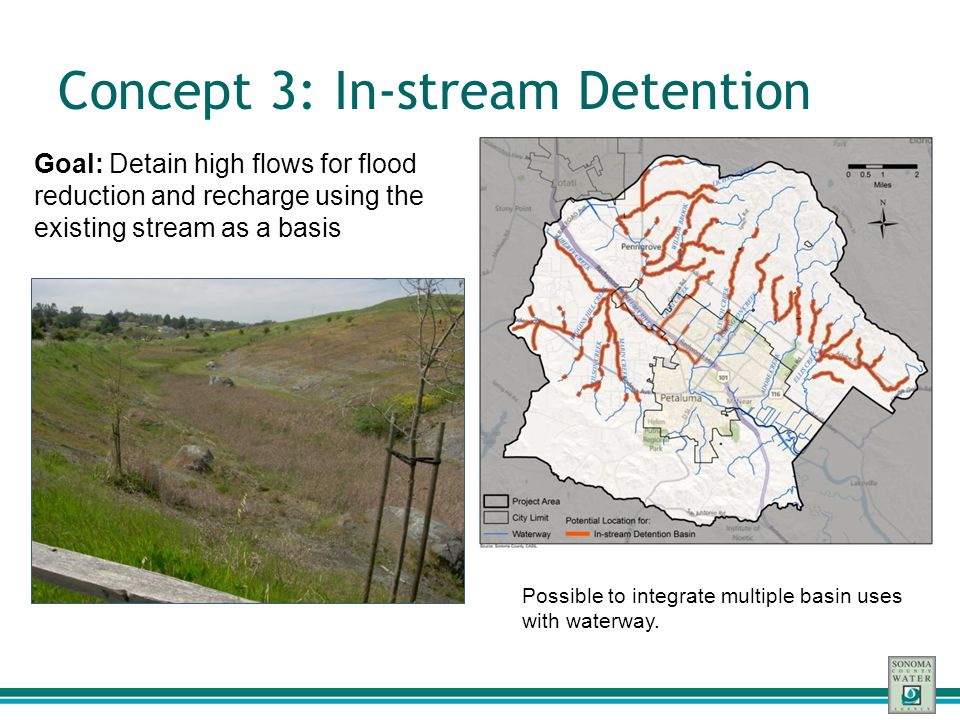 Concept 3: In-stream Detention