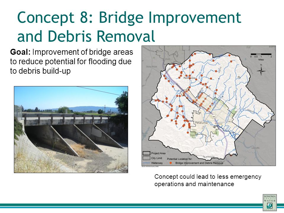 Concept 8: Bridge Improvement and Debris Removal