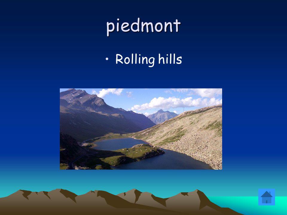 piedmont Rolling hills