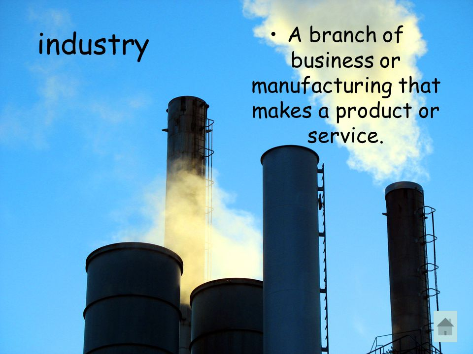 A branch of business or manufacturing that makes a product or service.
