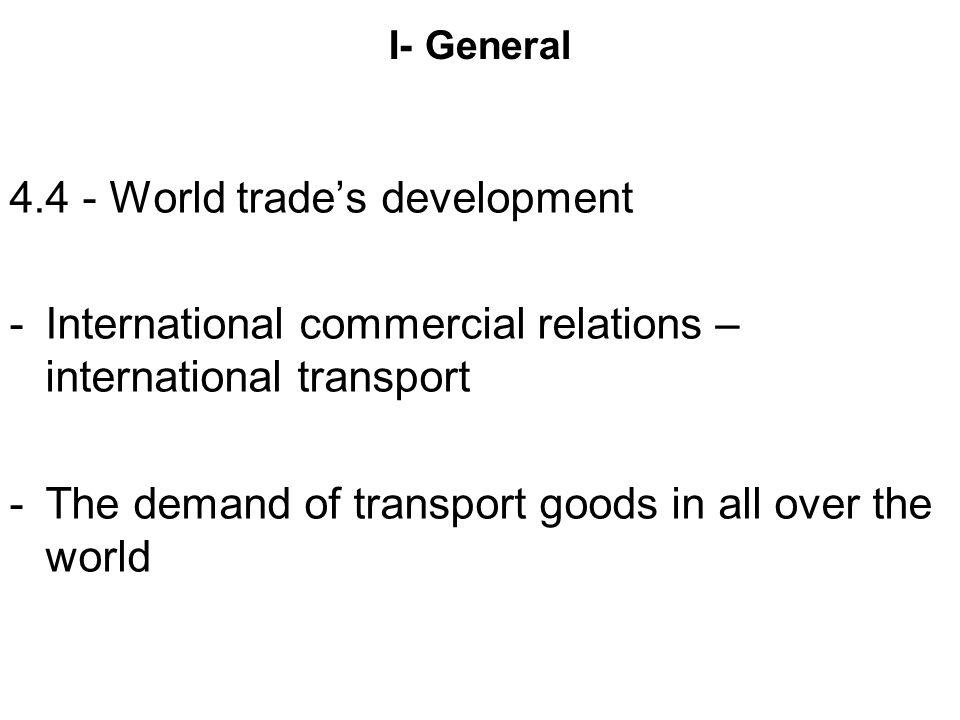 4.4 - World trade's development