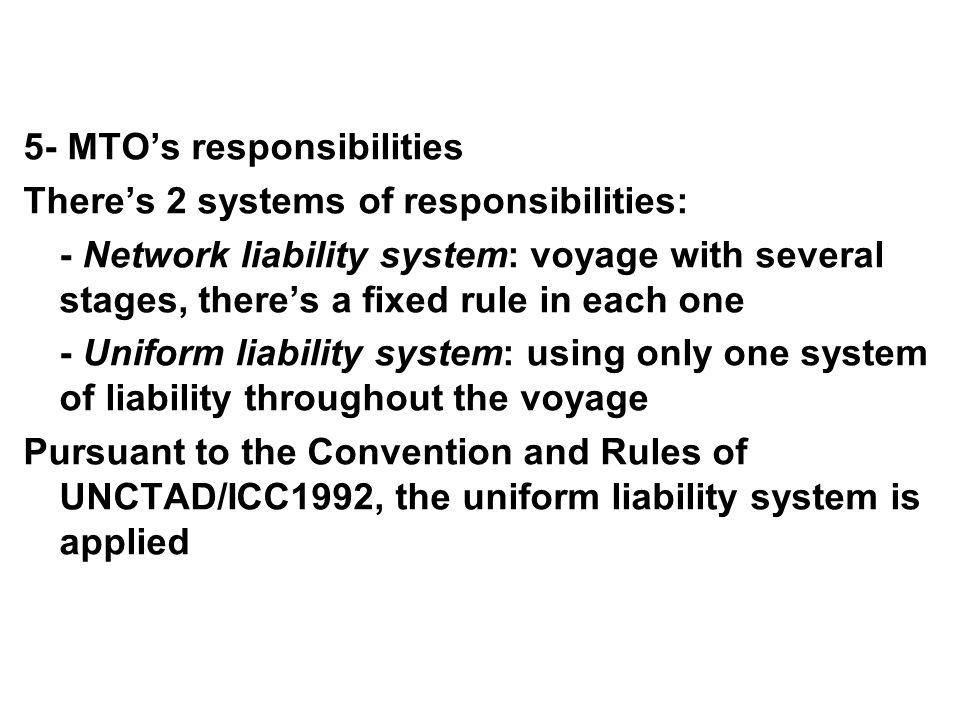 5- MTO's responsibilities