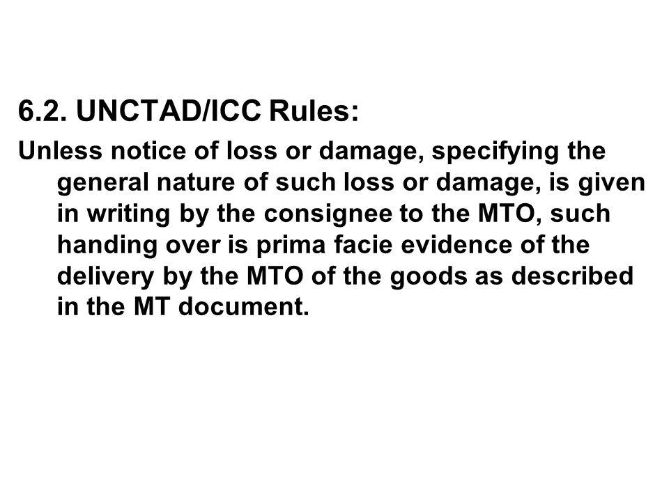 6.2. UNCTAD/ICC Rules: