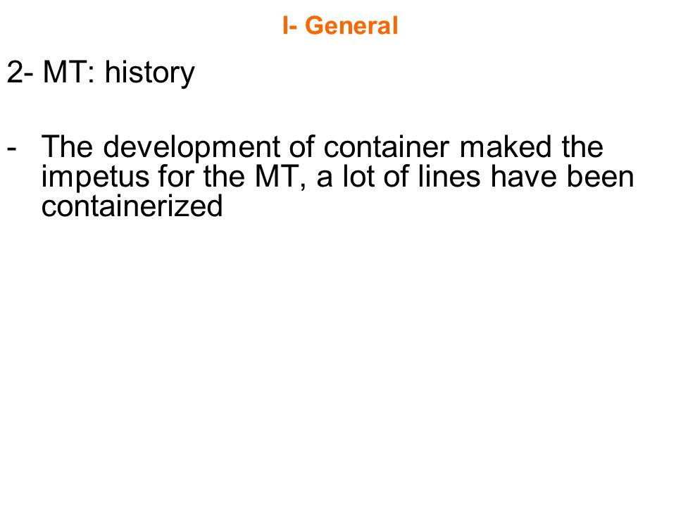 I- General 2- MT: history.