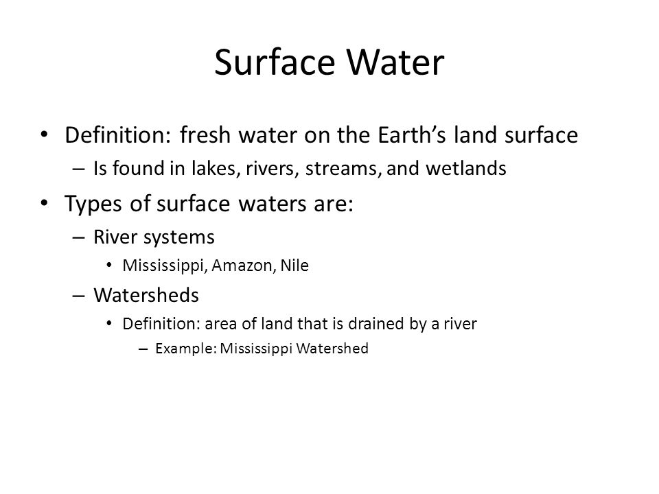 Watersheds ppt video online download for Frash meaning