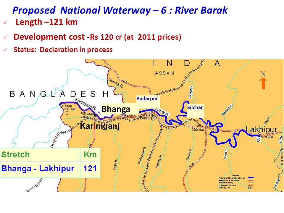 Proposed National Waterway – 6 : River Barak