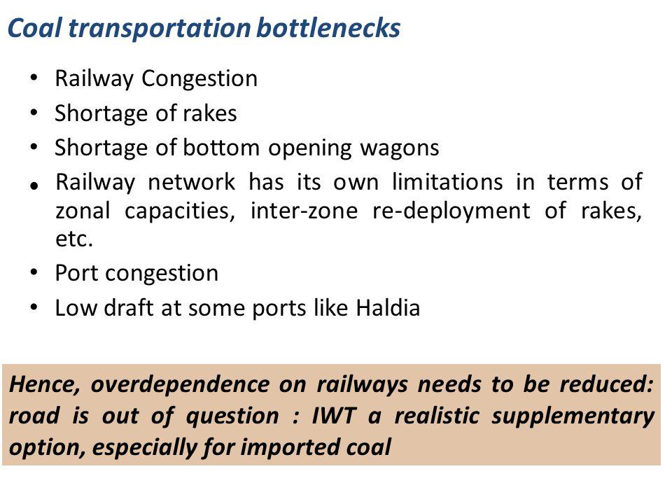 Coal transportation bottlenecks