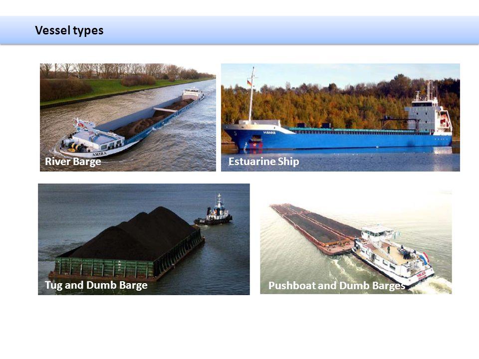 Vessel types River Barge Estuarine Ship Tug and Dumb Barge