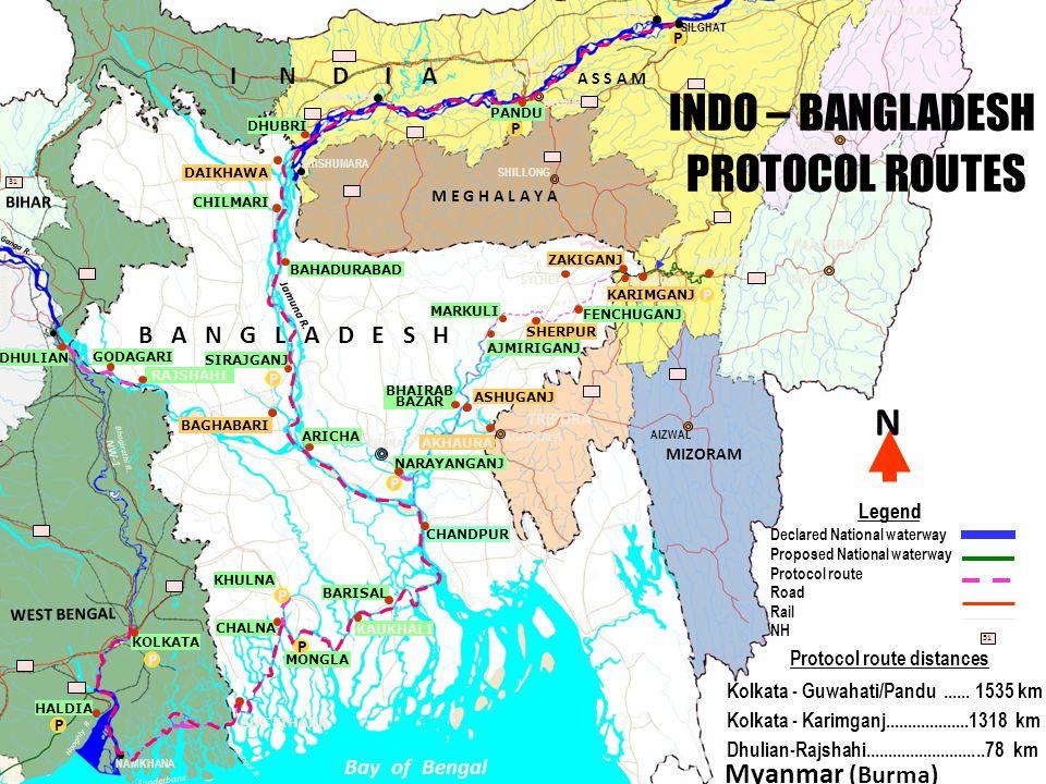 Protocol route distances
