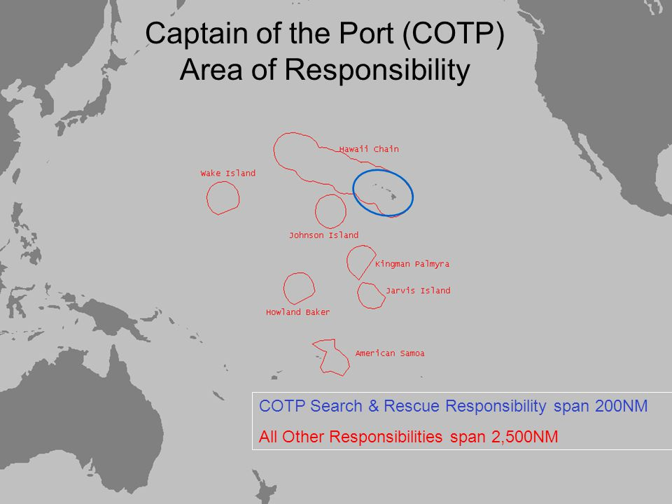 Captain of the Port (COTP) Area of Responsibility