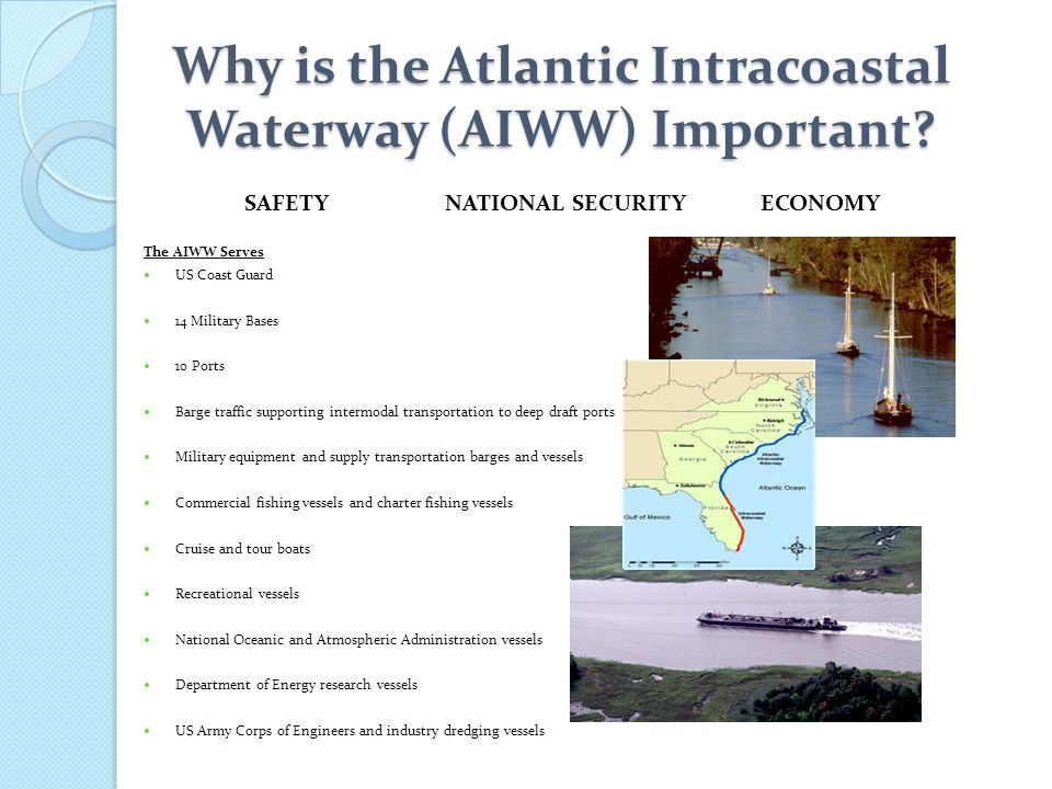 Why is the Atlantic Intracoastal Waterway (AIWW) Important