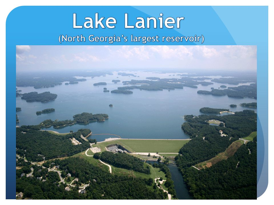 (North Georgia's largest reservoir)