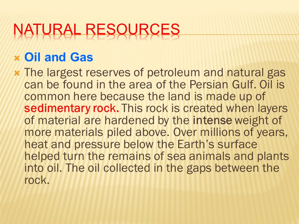 Natural Resources Oil and Gas