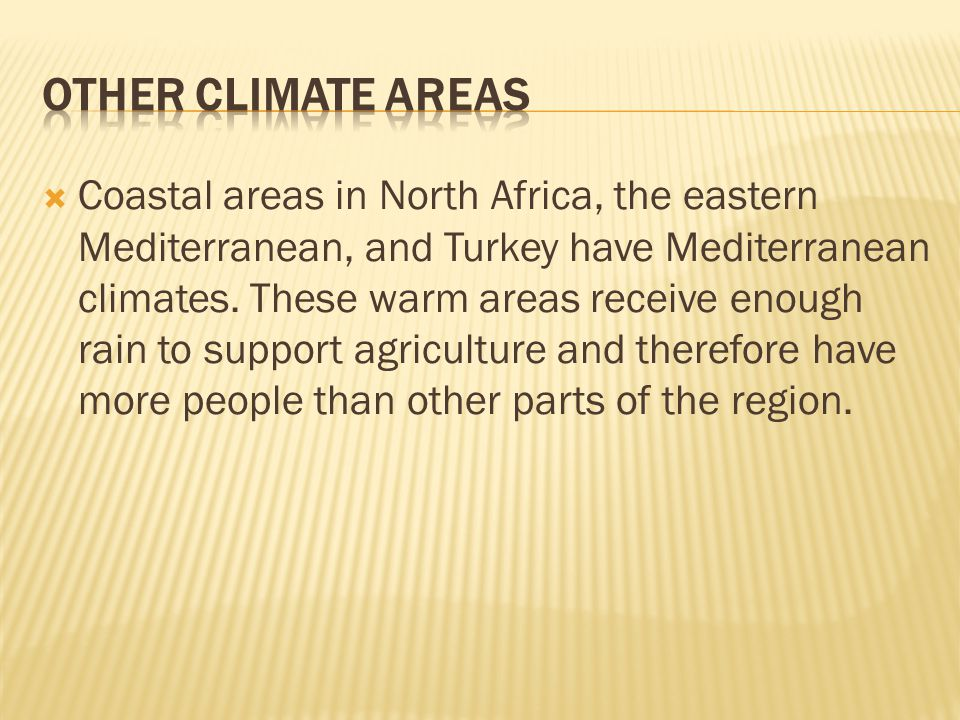 Other Climate Areas