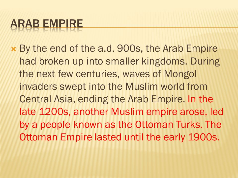 Arab Empire