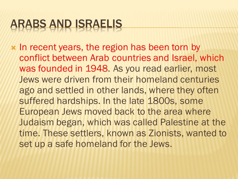Arabs and Israelis