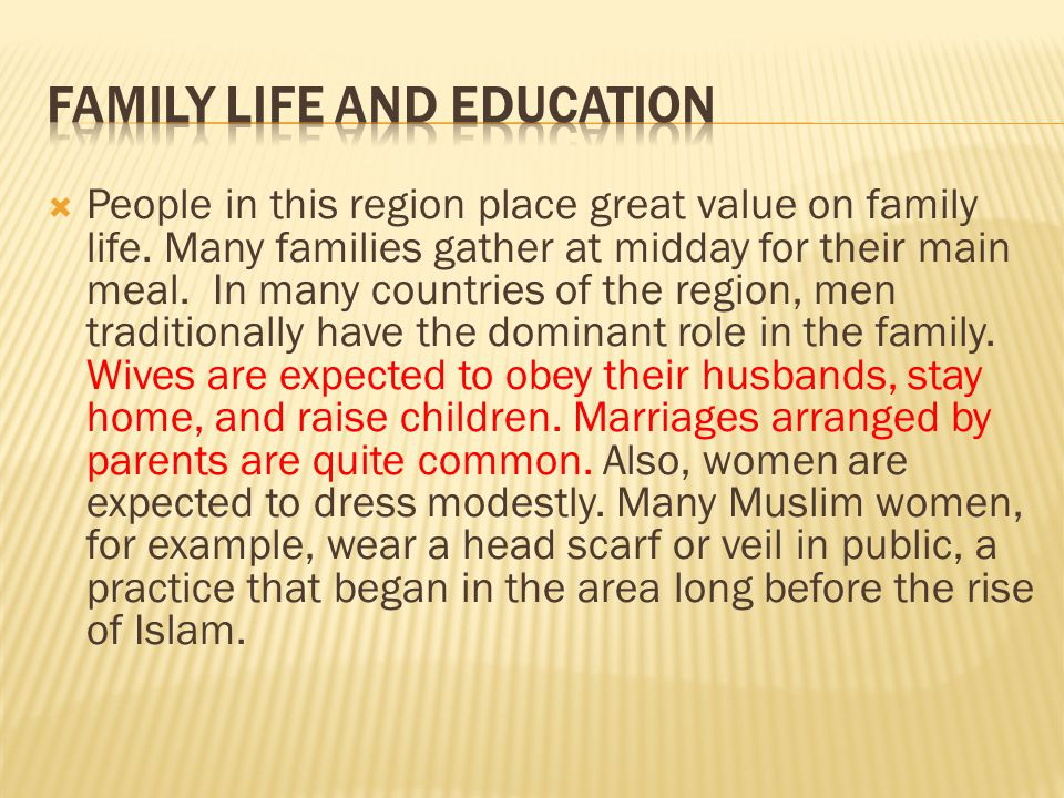 Family Life and Education
