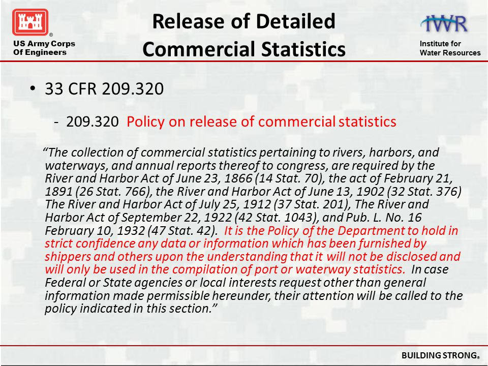 Release of Detailed Commercial Statistics