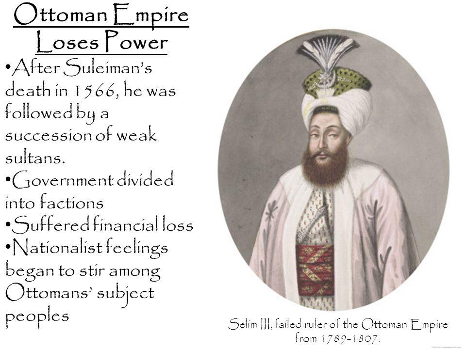 Ottoman Empire Loses Power