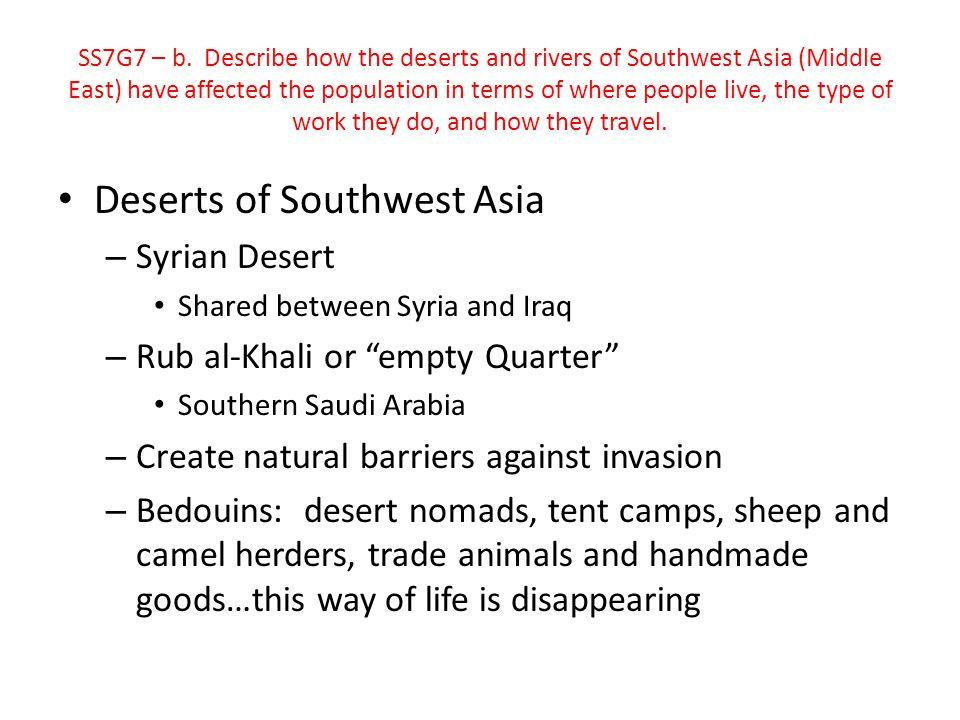Deserts of Southwest Asia