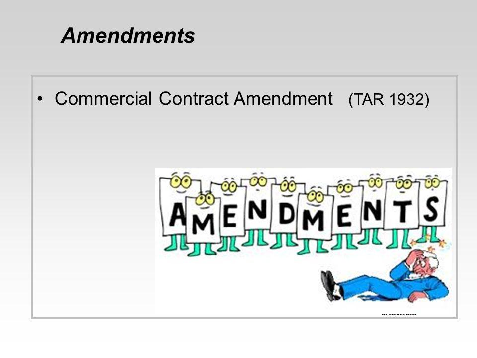 Amendments Commercial Contract Amendment (TAR 1932) 36