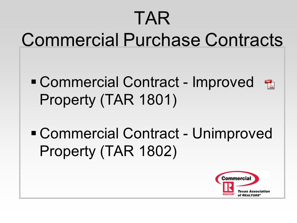 Commercial Webinar Series 1 Hour Presentation Tar Commercial
