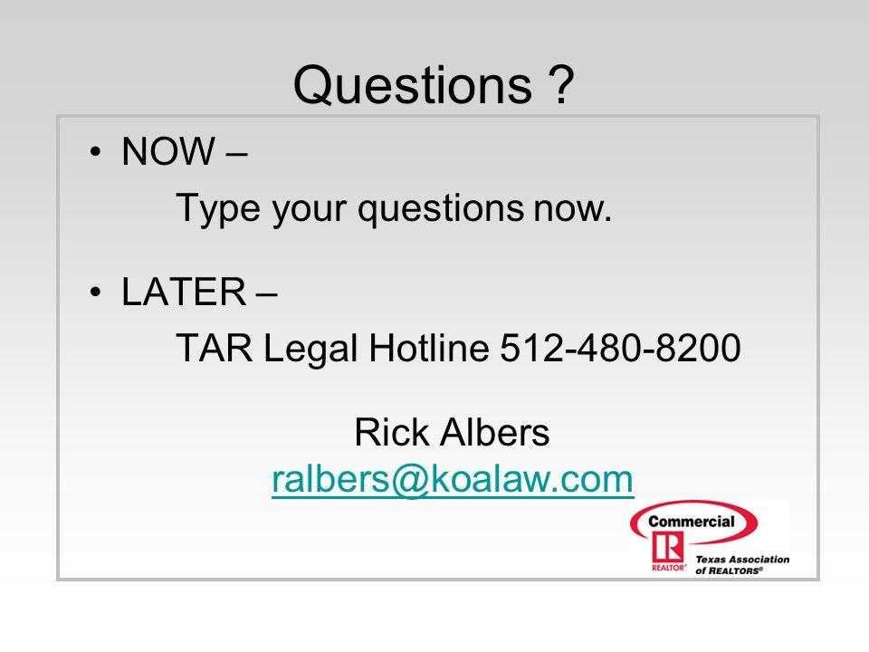 Rick Albers ralbers@koalaw.com