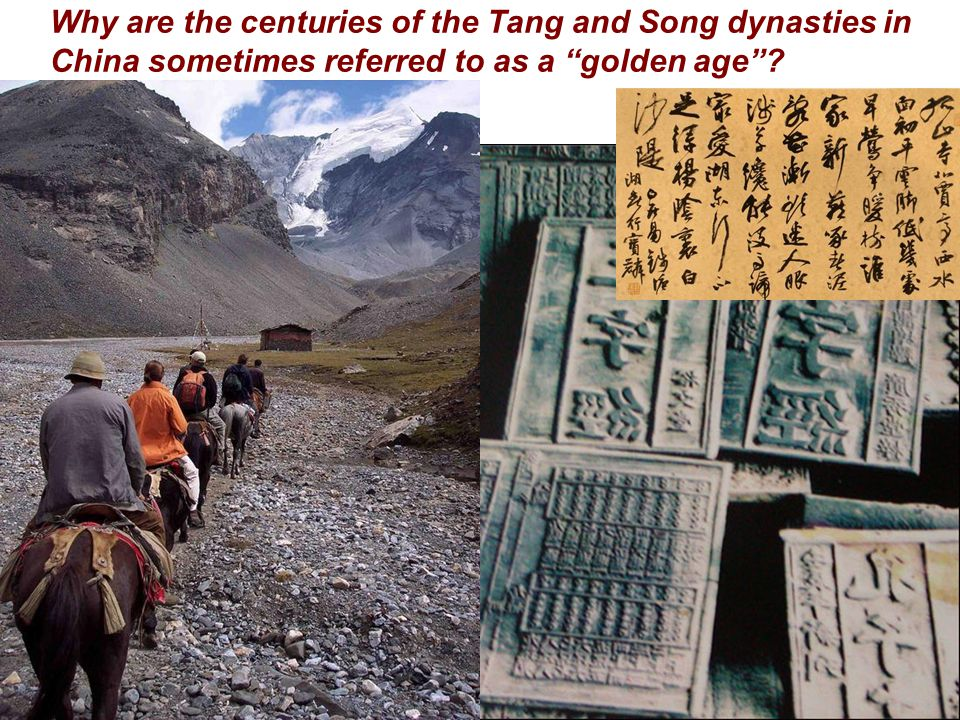 Why are the centuries of the Tang and Song dynasties in China sometimes referred to as a golden age