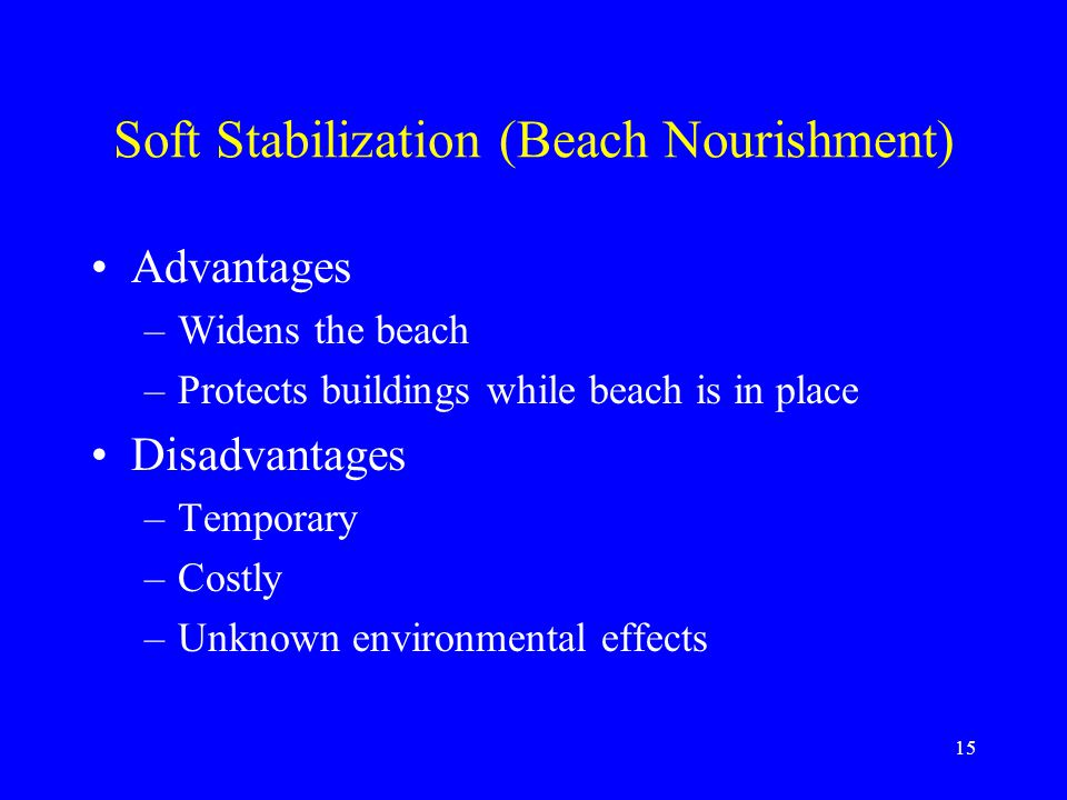 Soft Stabilization (Beach Nourishment)