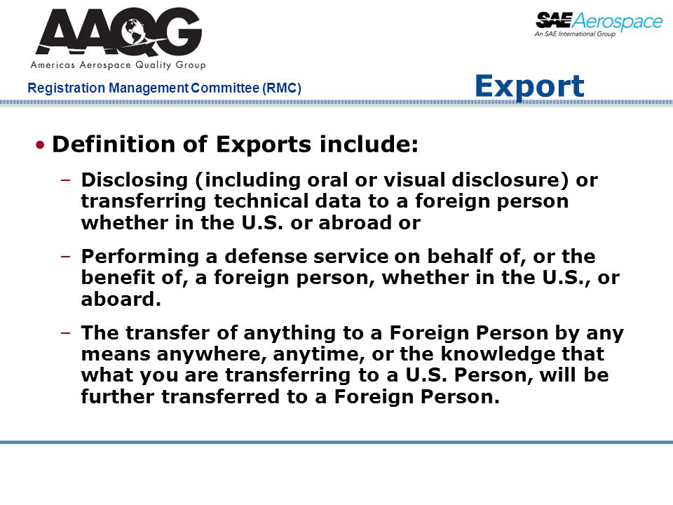 Export Definition of Exports include: