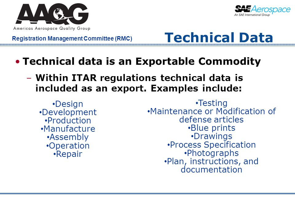 Technical Data Technical data is an Exportable Commodity