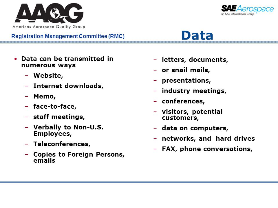 Data Data can be transmitted in numerous ways letters, documents,