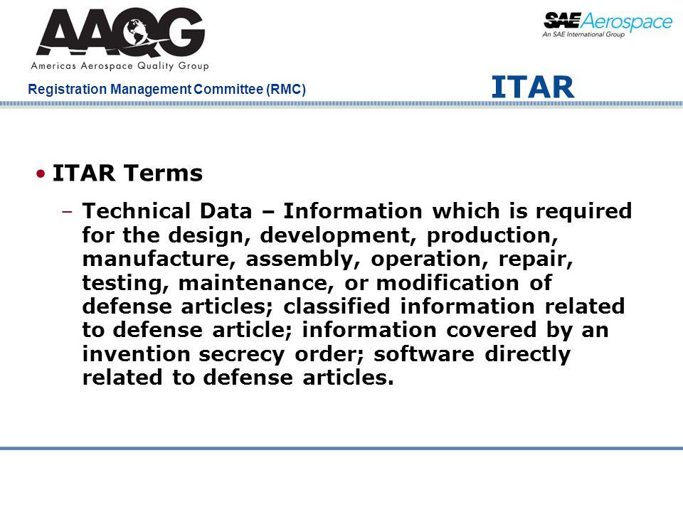 ITAR ITAR Terms.