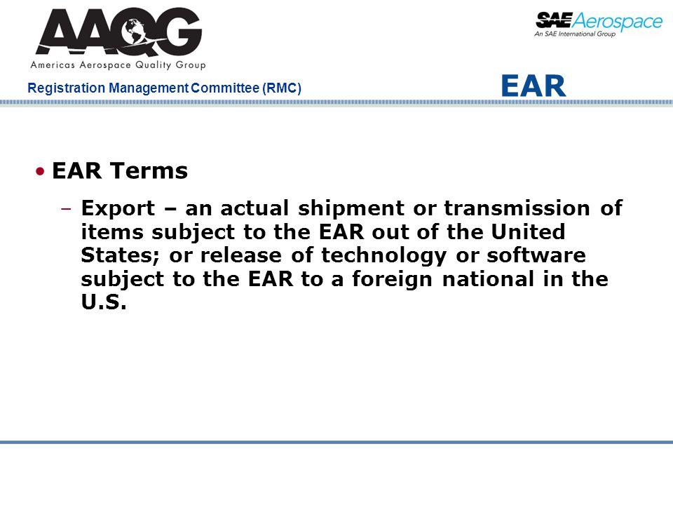 EAR EAR Terms.
