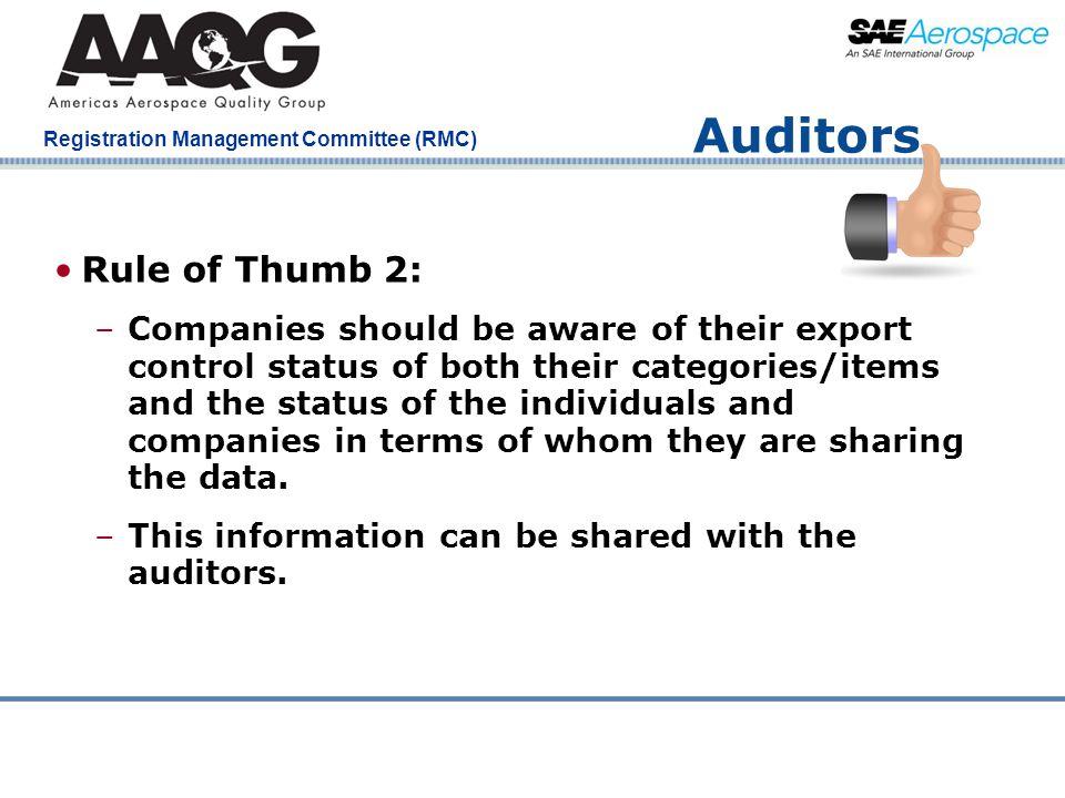 Auditors Rule of Thumb 2:
