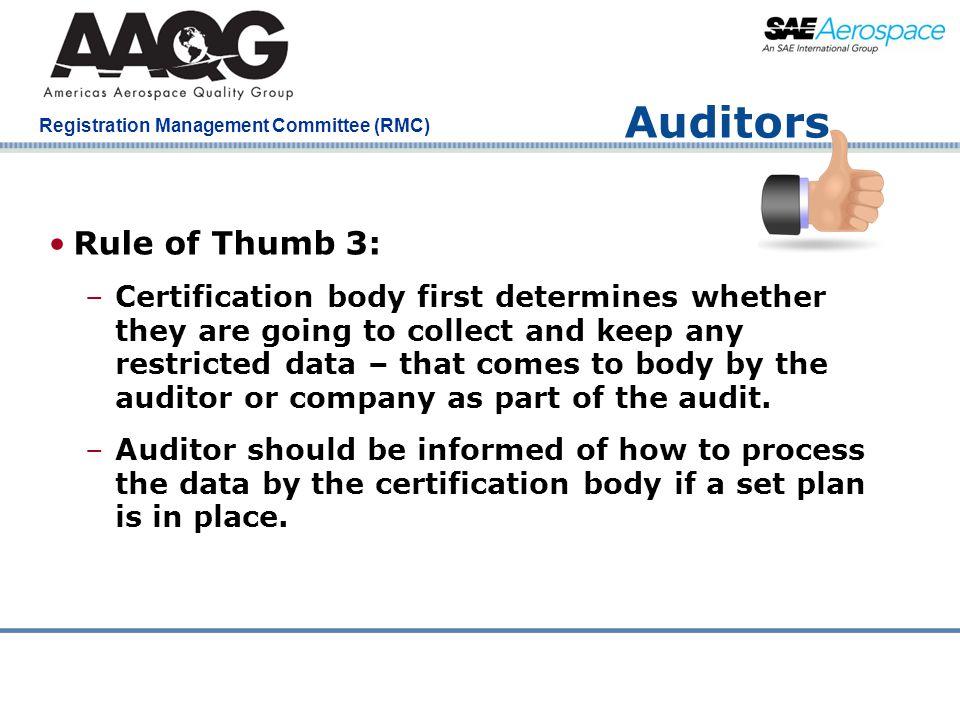 Auditors Rule of Thumb 3: