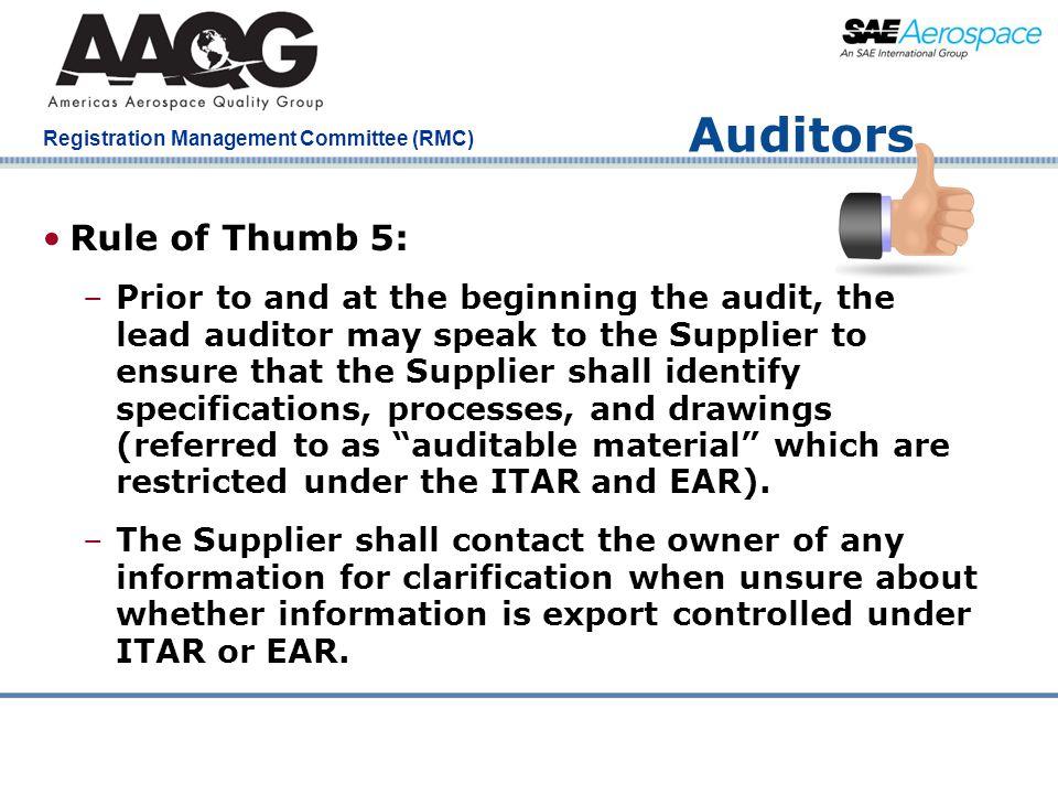 Auditors Rule of Thumb 5: