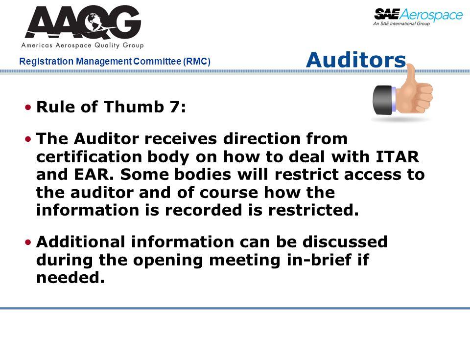 Auditors Rule of Thumb 7:
