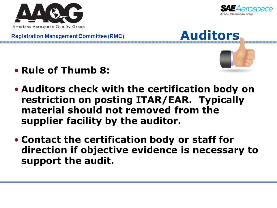 Auditors Rule of Thumb 8: