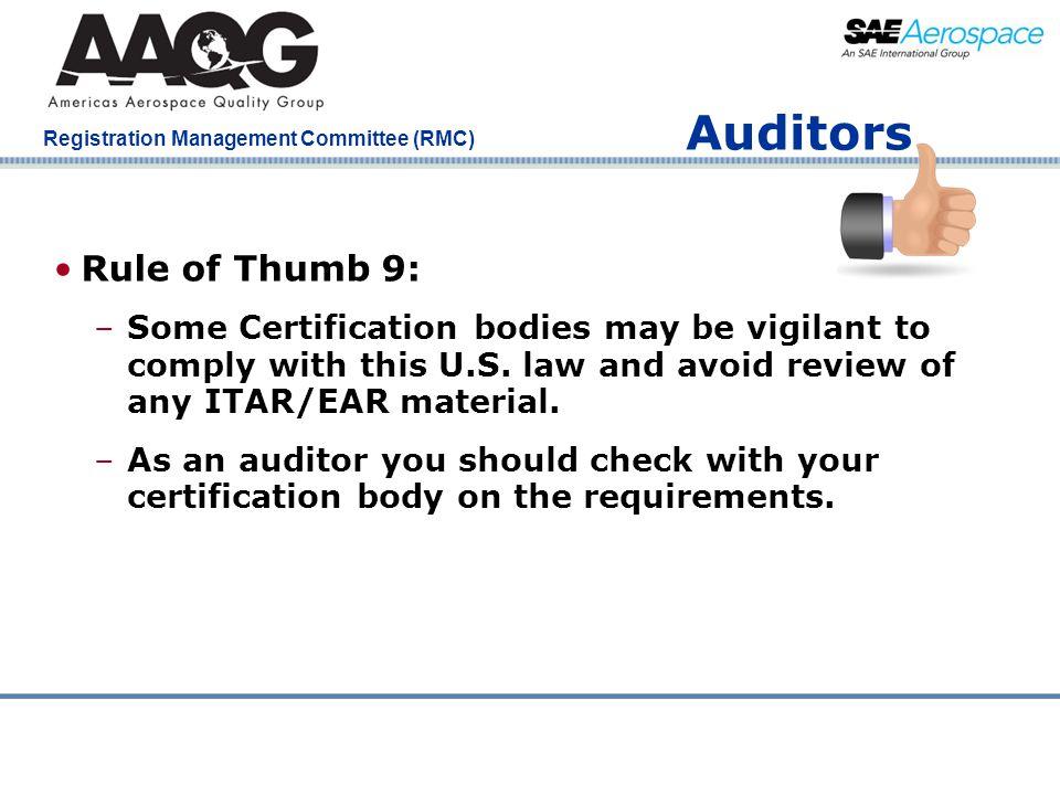 Auditors Rule of Thumb 9: