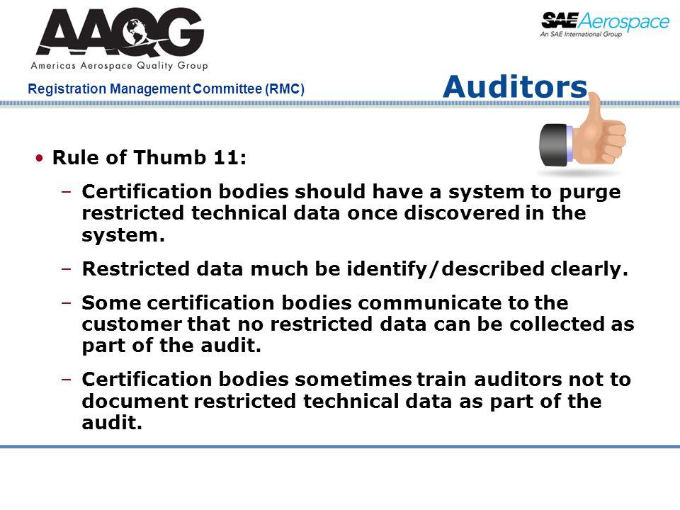 Auditors Rule of Thumb 11: