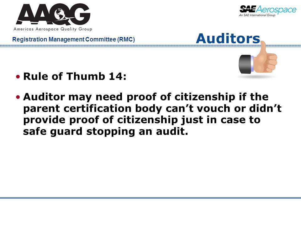 Auditors Rule of Thumb 14:
