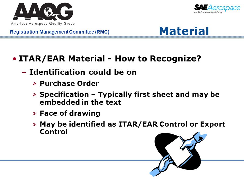 Material ITAR/EAR Material - How to Recognize