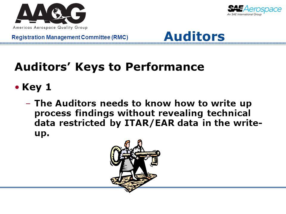 Auditors Auditors' Keys to Performance Key 1