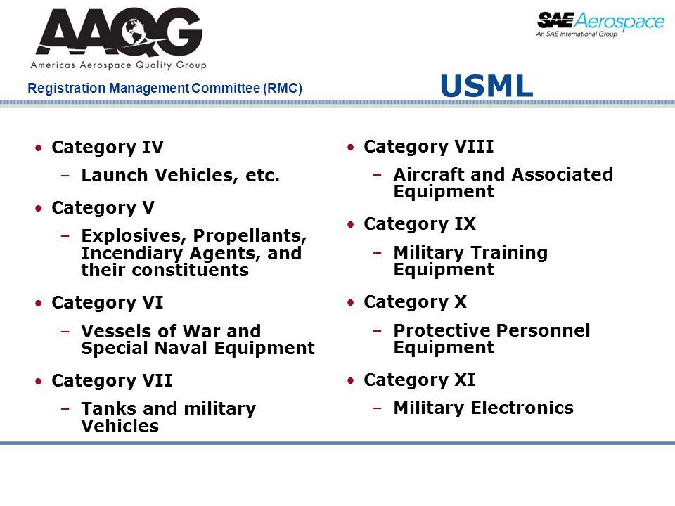 USML Category IV Category VIII Launch Vehicles, etc.