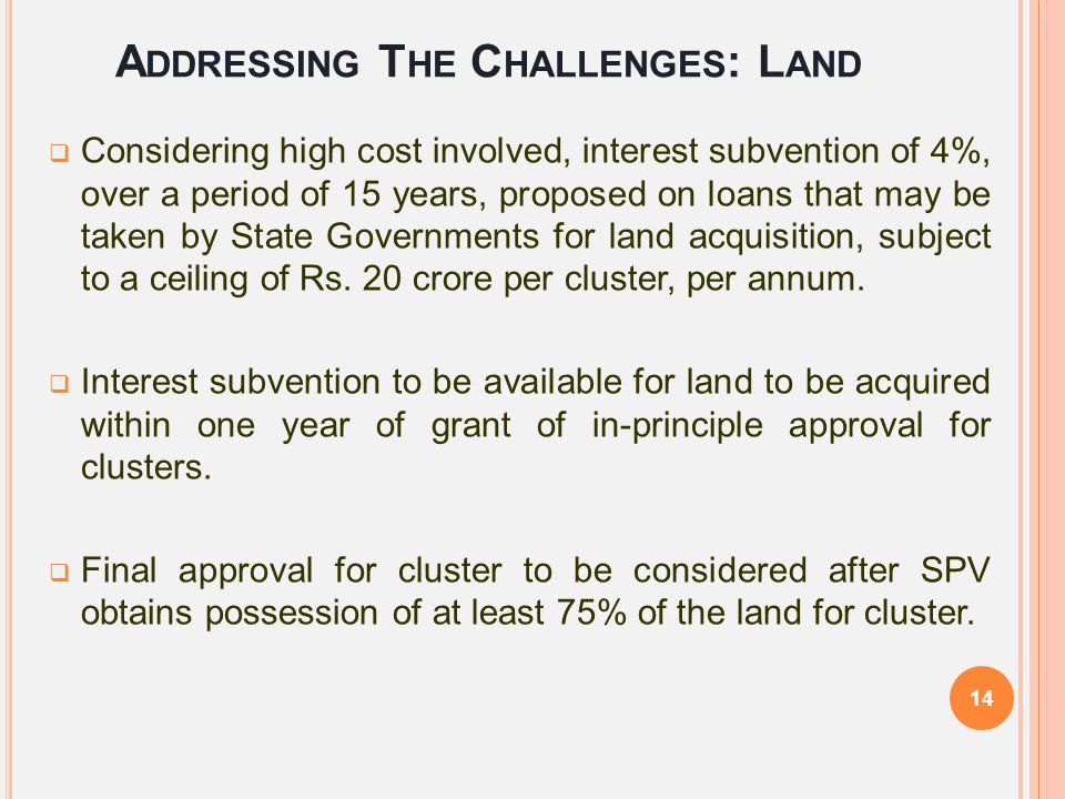 Addressing The Challenges: Land