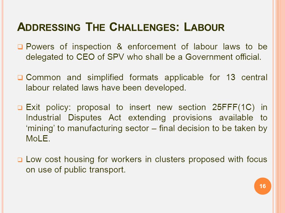 Addressing The Challenges: Labour