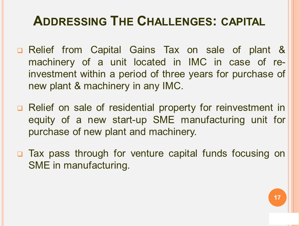 Addressing The Challenges: capital