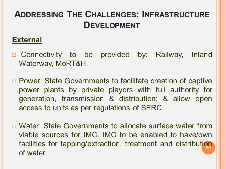 Addressing The Challenges: Infrastructure Development