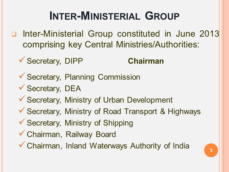 Inter-Ministerial Group